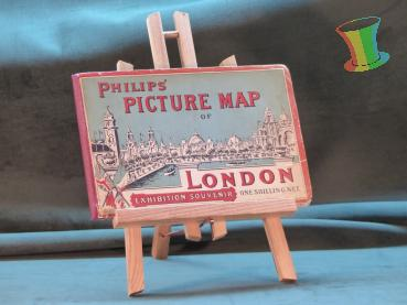 Philips Picture Map of London, alter Stadtplan Londons um 1920