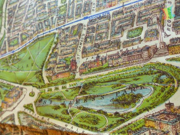 Philips Picture Map of London, alter Stadtplan Londons um 1920 3